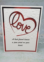 Single Pet Paws Heart Greeting Card