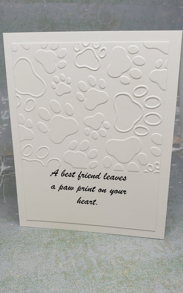 Single Pet Paws  Greeting Card