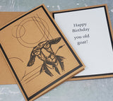 Single Old Goat Birthday Card