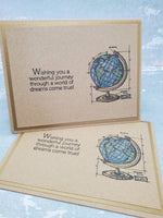 Single Worldly Greeting Card