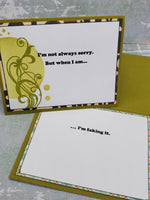 Single Faking It Apology Card