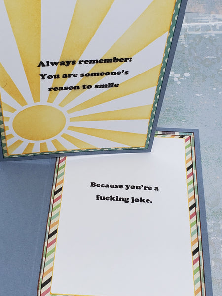Single Sarcastic Sunshine Card
