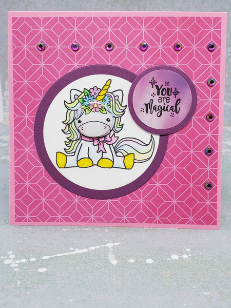 OOAK Unicorn Single Greeting Card
