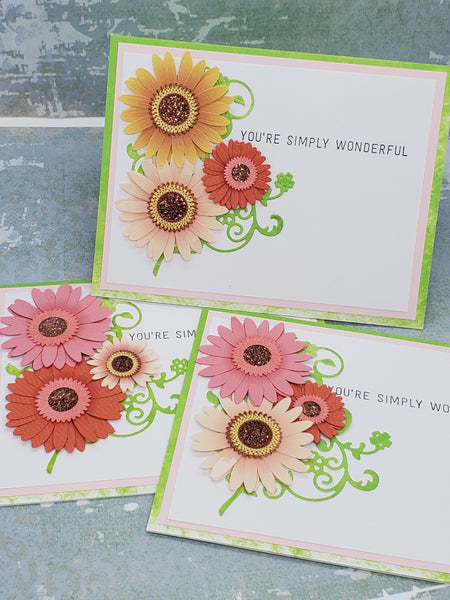 Single You're Simply Wonderful Floral Greeting Card