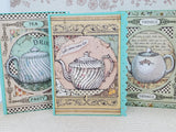 3 Piece Time for Tea Teapot Alice In Wonderland Inspired Greeting Card Set