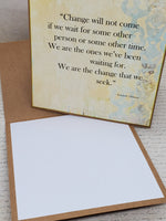 Single Barack Obama Quote Blank Greeting Card
