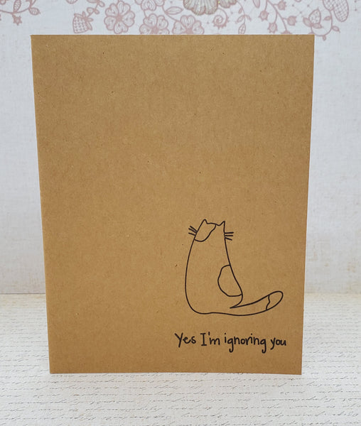 Single Catitude Yes, I'm Ignoring You Greeting Card