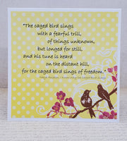 Single Maya Angelou I Know Why The Cage Bird Sings Blank Greeting Card