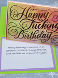 Single Happy Fucking Birthday Card