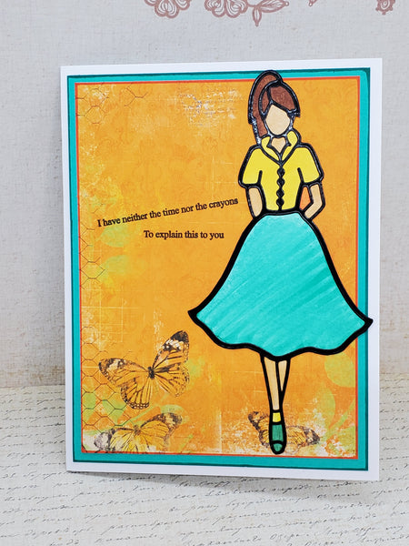 Single 'I don't have the crayons' Sassy Greeting Card
