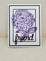 Single Purple Hydrangea Blank Greeting Card