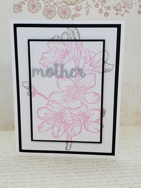 Single Cherry Blossom Mother Greeting Card
