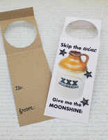 Single Moonshine Bottle Gift Tag