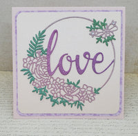 Single Glittering Love All Occassion Blank Greeting Card