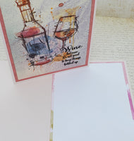 Single Wine Bottle It Up Greeting Card