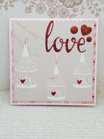 Single Large Bird Cage Love Inspired Greeting Card