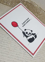 Single Snarky Panda Greeting Card
