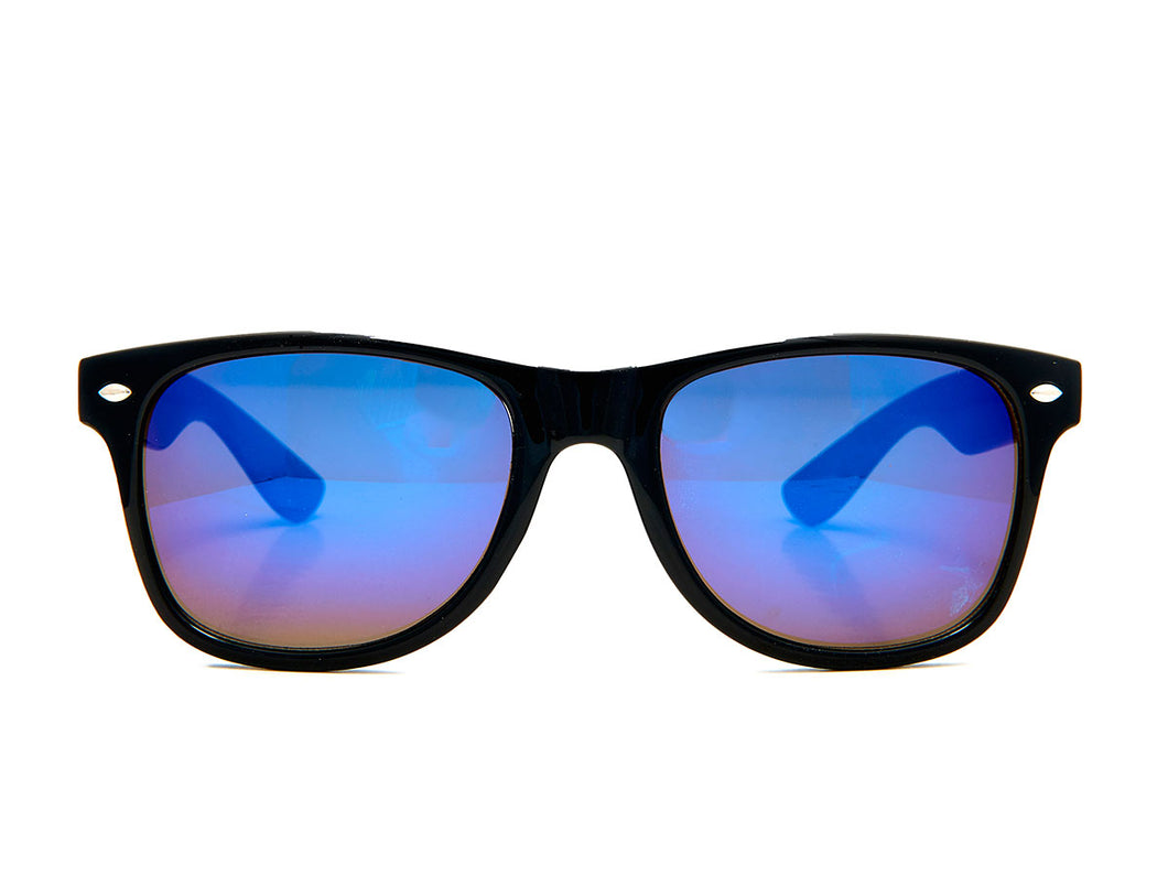 Pop Sunglasses - Black/Blue Mirror Lense