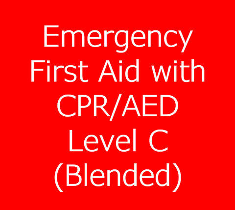 Emergency First Aid Training with CPR/AED Level C - Blended