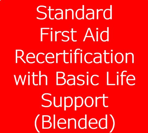 Standard First Aid Recertification Blended with BLS (Basic Life Support)