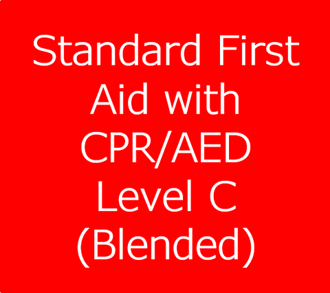 Standard First Aid Course with CPR/AED Level C - Blended