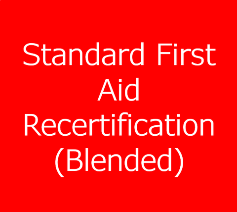 Standard First Aid Recertification with CPR/AED Level C - Blended