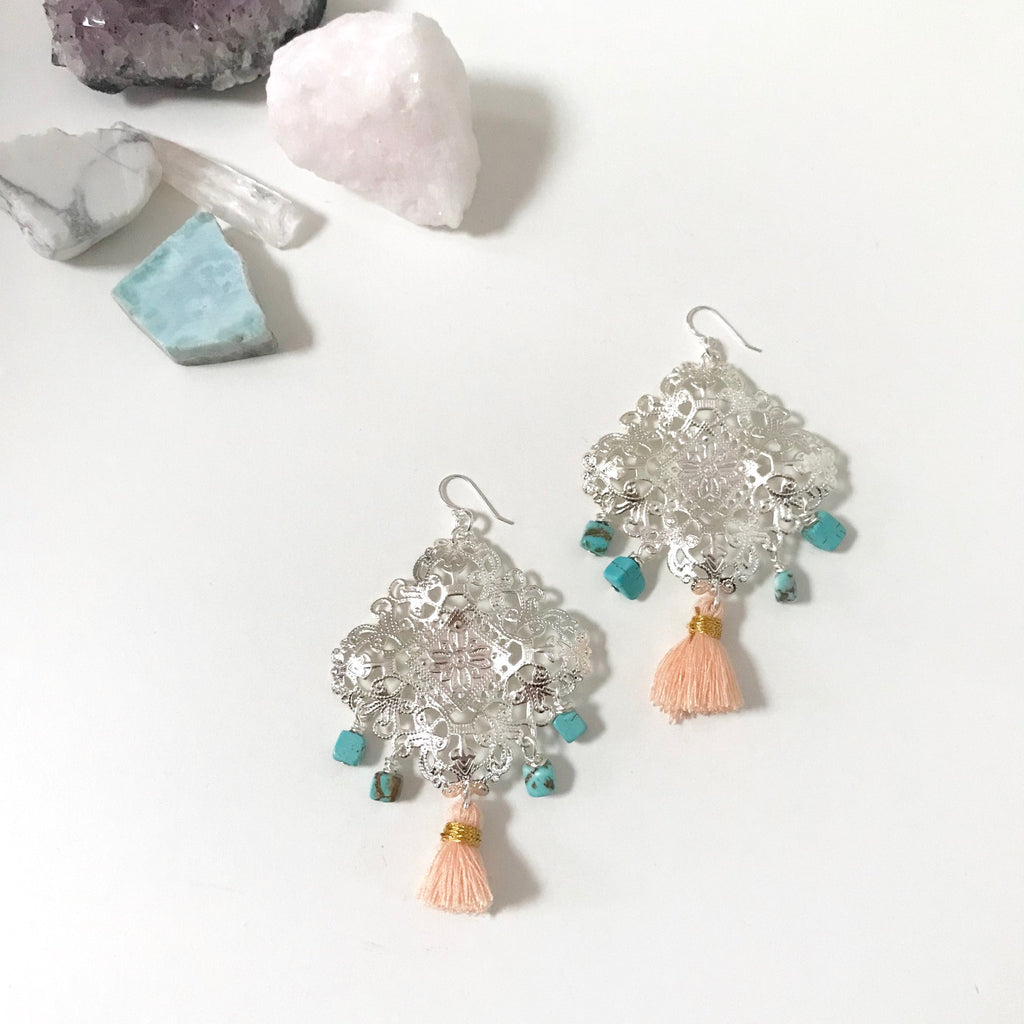 Stargazing Collection - Turquoise Edit - Peach Tassel
