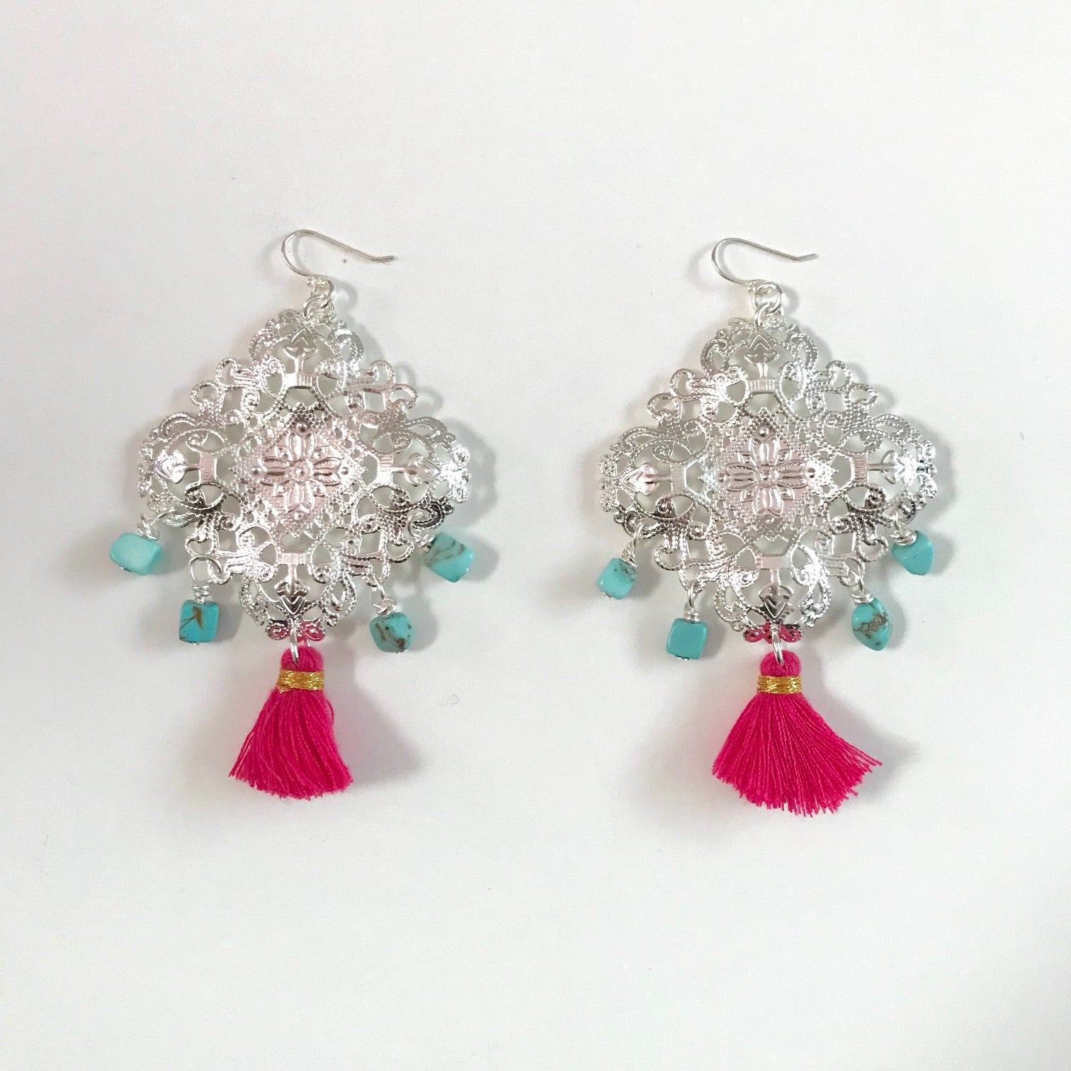 Stargazing Collection - Turquoise Edit - Hot Pink Tassel
