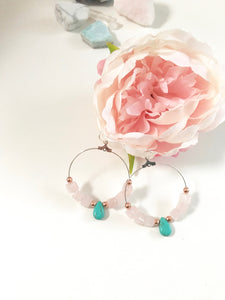 Crystal Love Collection - Rose Quartz & Turquoise