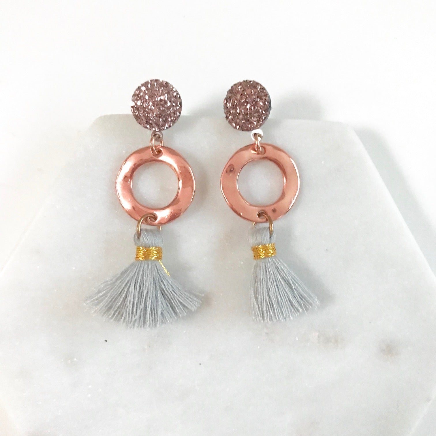Stargazing Collection - Halo - Tassel Stud Earrings