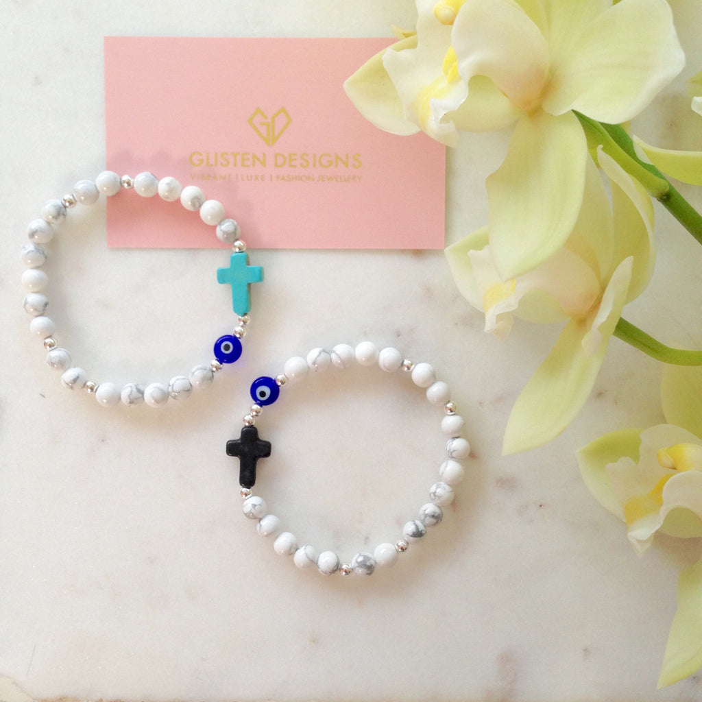 Evil Eye & Cross Protection Bracelet