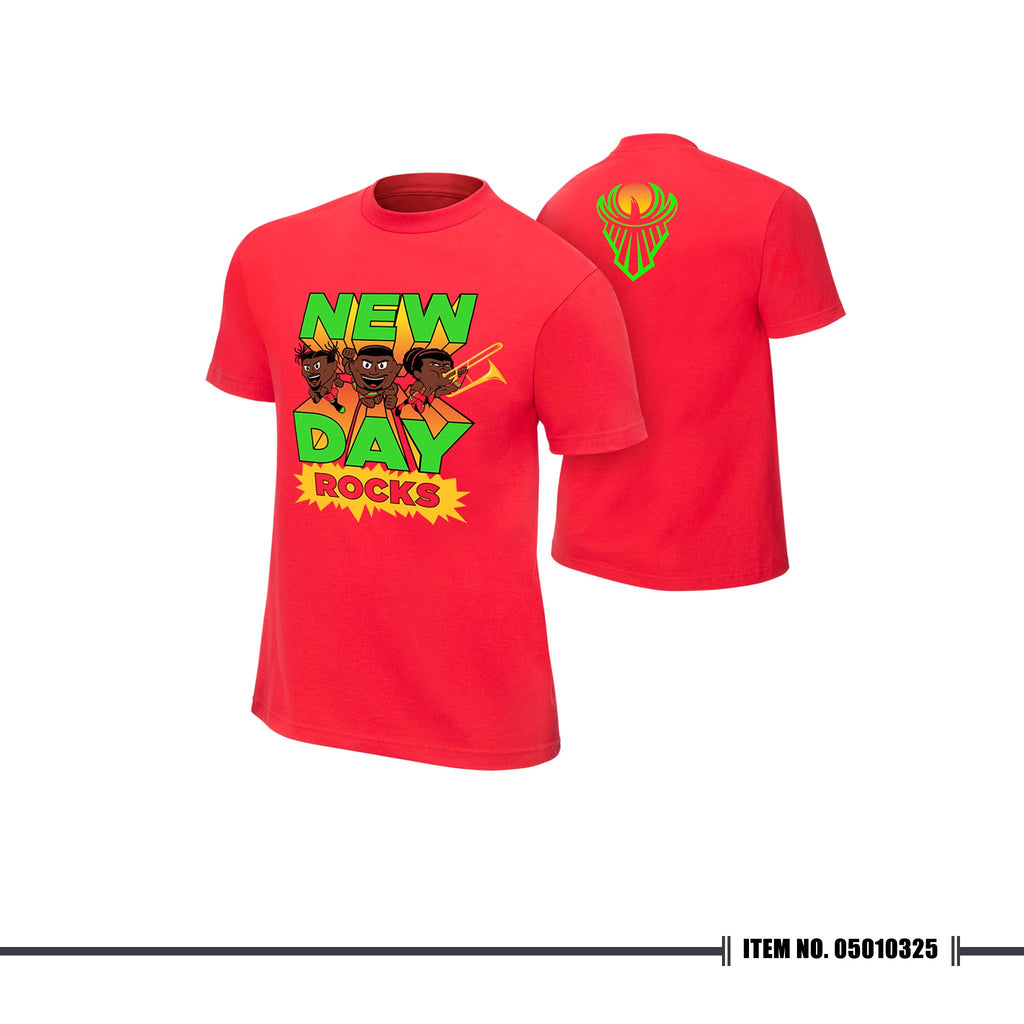 "WWE New Day ""New Day Rocks"" Red T-shirt"