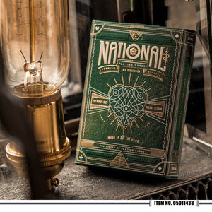 Theory 11 - Green National Playing Cards