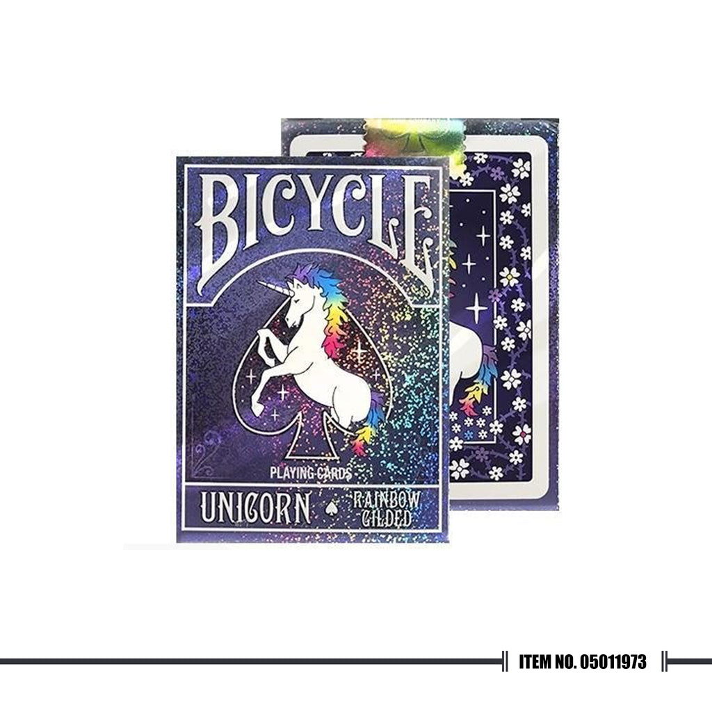 BICYCLE® RAINBOW GILDED UNICORN PLAYING CARDS