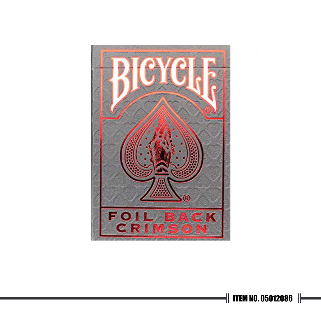 BICYCLE® METALLUXE™ RED PLAYING CARDS
