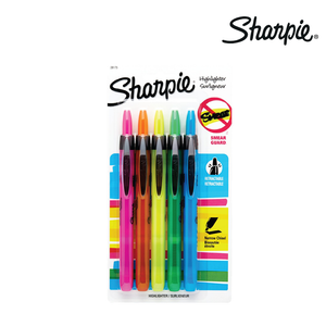 Sharpie Retractable Highlighter Asstd 5s - Cutting Edge Online Store