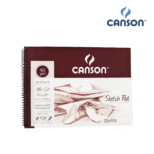 Canson Maroon Sketch Pad Spiral