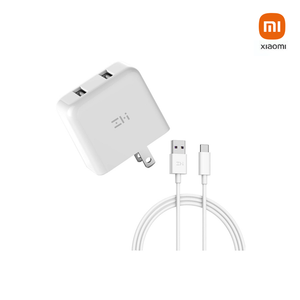 ZMI USB Charger 2 ports w/ USB-C Cable 100cm