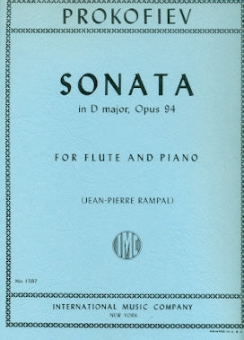 Sonata in D Major, Op. 94 (Flute and Piano)