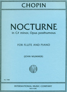 Nocturne in C# Minor (Op. Post.) (Flute and Piano)
