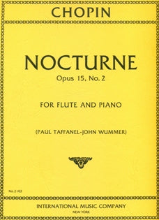 Nocturne, Op. 15. No. 2 (Flute and Piano)