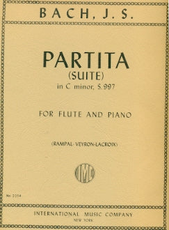Partita (Suite) in C minor, BWV 997 (Flute and Piano)