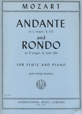 Andante and Rondo in G Major, K250 (Flute and Piano)