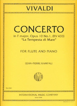 "Concerto in F Major, RV433, ""La Tempesta di Mare"" (Flute and Piano)"