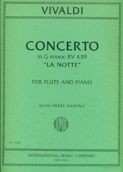"Concerto in G minor, RV439, ""La Notte"" (Flute and Piano)"