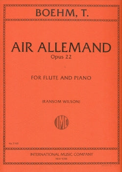 Air Allemand, Op. 22 (Flute and Piano)