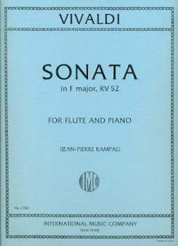 Sonata in F Major, RV52 (Flute and Piano)