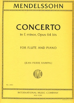 Concerto for Violin and Orchestra in e minor op. 64 (Flute and Piano)