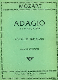 Adagio in E Major, K261 (Flute and Piano)