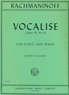 Vocalise, Op. 34 No. 14 (Flute and Piano)